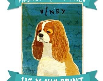 "Mens Personalized Dog Art- Personalize Your Pooch- Dog Art Print 11"" x 14"" Husband Gift- Customizable Dog Wall Art- Custom Pet Art Dog Gifts"