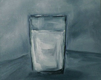 Glass of Milk Original Oil Painting Art by California Artist debra alouise