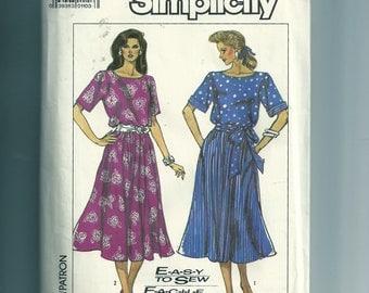 Vintage Simplicity Misses' Dress Pattern 8005
