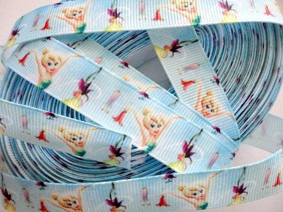 "5/8"" Fairy grosgrain ribbon  last 4 yards"