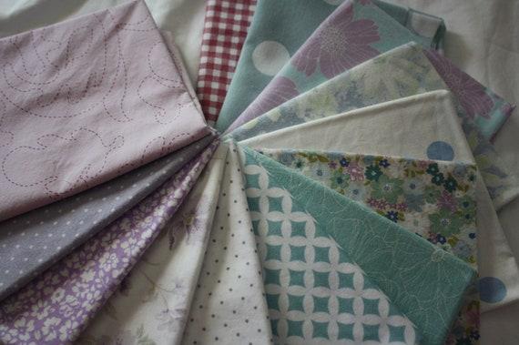 Fat Quarter Bundle-Reclaimed Bed Linens-Daydreamer