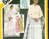 VINTAGE 1980 BRIDES or Bridesmaid Dress Cape Sewing PATTERN