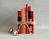 Red Home Decor Book Set