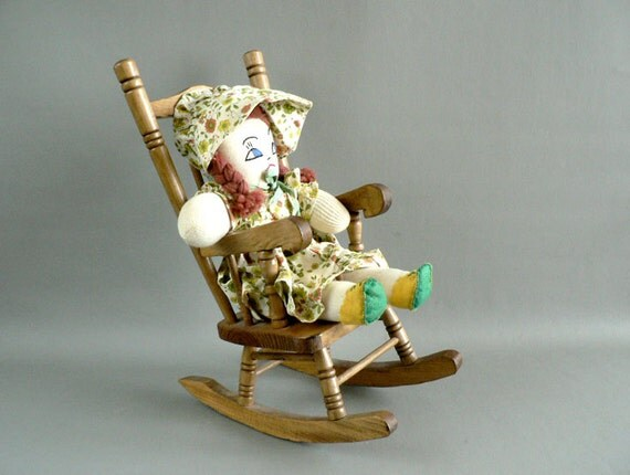 Wood Doll Rocking Chair