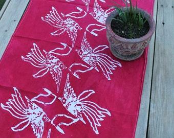 red birds floursack towel