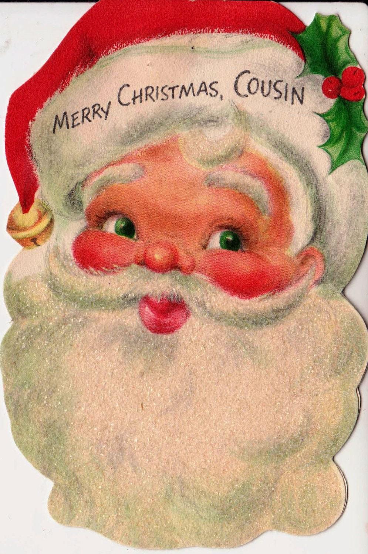 vintage hallmark 1958 merry christmas cousin greetings card