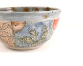 Cactus Southwest Desert Pottery bowl  for soup, salad, cereal / ready to ship prickly pear ocotilla dish home decor
