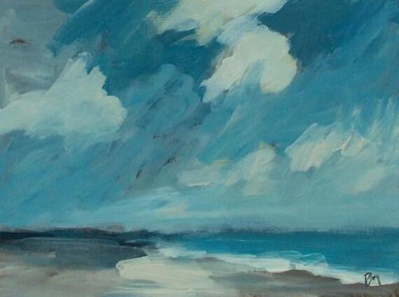 original acrylic painting landscape beach painting