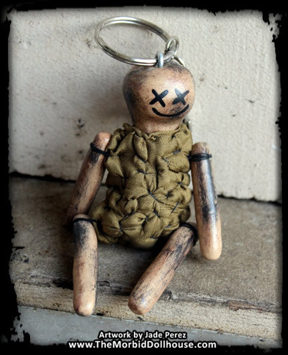 Handmade Happy Dead Doll - Keychain - Car Mirror Ornament