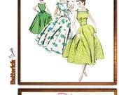 Retro Sewing Pattern Butterick 4513 Out of Print Retro '57 dress & belt size 6-12, uncut