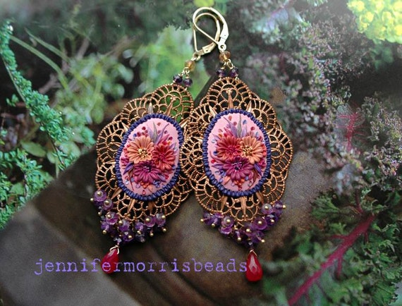 rosita - mexican embroidery gypsy earrings