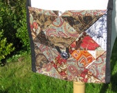 Brown Batik Patchwork Purse