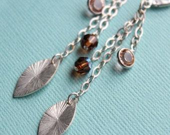 CLEARANCE - Silver Leaf Earrings