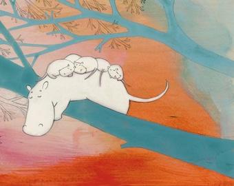 Hippossums - Signed Art Print