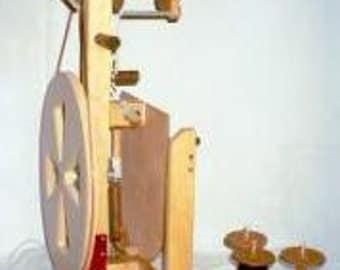 Fricke Folding Spinning Wheel S-160-F-Single Treadle  Bonus Item