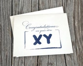 Congratulations on Your New Baby Boy - XY Chromosome Note Card
