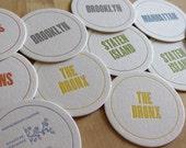NEW YORK CITY Letterpress Neighborhood Coasters (Pack of 10)