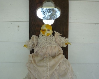 Yellowed I Never Seem To Cry Much Anymore Art Doll by Ugly Shyla