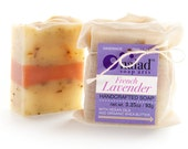 French Lavender Artisan Shea Butter Soap - All Natural Handmade Soap - Vegan and Cruelty Free - Sustainable Palm