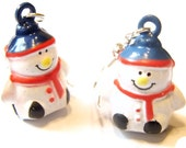 Sale Save 10% Holiday Earrings -- Winter Wonderland Snowman Earrings Kawaii Earrings