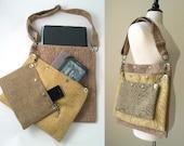 3 section laptop messenger bag, crossbody bag, messenger purse, messenger tote, shoulder bag, handmade handbag ,cross body bag, tote bag