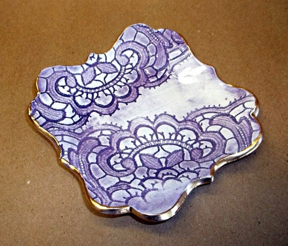 Purple Lace Trinket Bowl