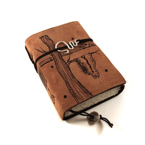 Journal, Leather, Suede, Dali