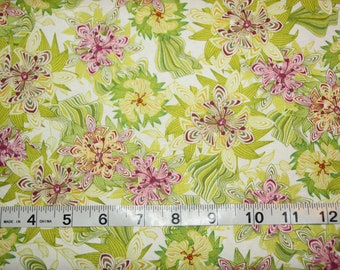 One Yard Art Gallery Magic Garden Collection - In Full Bloom Fabric by Sabine Reinhart
