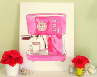 PINK ESPRESSO on stretched canvas 16x20