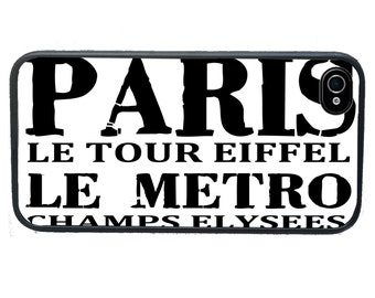 iphone 6 case iPhone case Paris Subway Scroll, fits iPhone 4, 4s - iPhone 5 Case - Galaxy s3 s4 s5