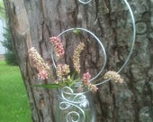 Wire Wrapped Hanging Bud Vase