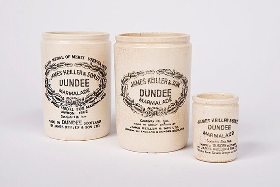 Antique Dundee Marmalade Jars