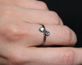 Aquamarine Swarovski Crystal Stacking Ring