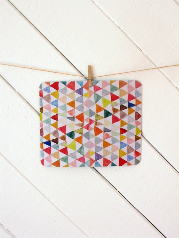 mousepad / Mouse Pad / Mat - Watercolor Triangles Tapestry