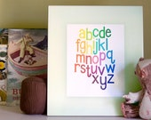 The Happy Alphabet - Rainbow Wave 8 x 10