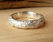 Wide Branch Band - Sterling Silver