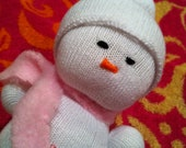 Rose the Sock Snowman- baby safe
