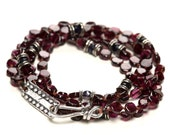 Midgard Serpent Beaded Wrap - Garnet