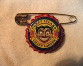 Coney Island Pin accessory, Beer Bottle Cap, New York Souvinir
