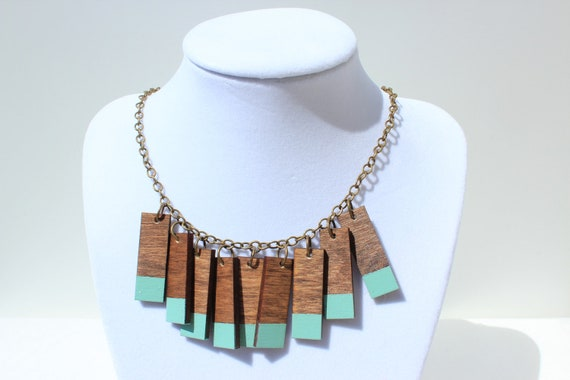 Mint Fringe Necklace