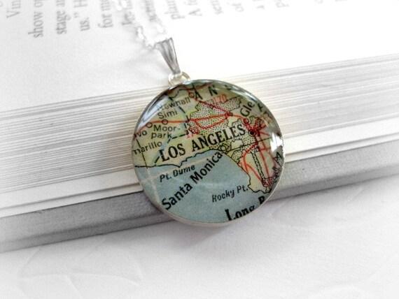 Map Pendant Necklace Los Angeles , CA