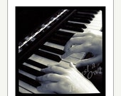 ON SALE Playing Piano - 5x5 Metallic Photograph