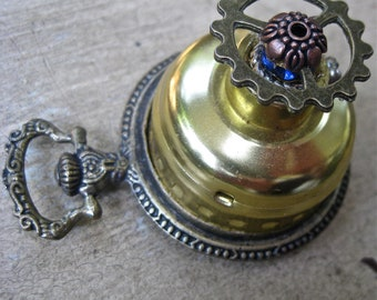 Vintage Pocket watch pendant Steampunk  jewelry tateam necklace