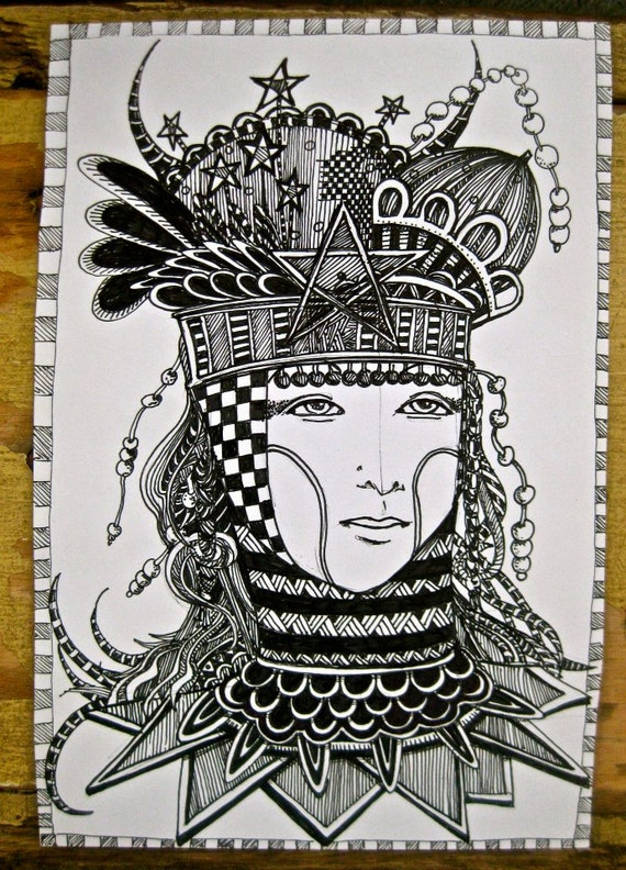 Items Similar To Coloring Page Illustration Tarot Card