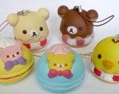 Cute Squishy Rilakkuma Japanese Bear & Friends Sweet Desserts KeyChain Cellphone Charms - Squishy Kawaii