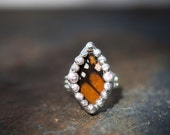 Majestic Monarch- Genuine Monarch Butterfly Wing Ring