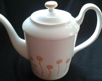 China Painted Dandelion Porcelain  Teapot