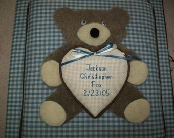 Teddy Bear Personalized Photo Album / Scrapbook -  No Lace