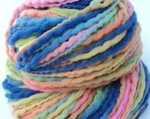 Soft Rainbow Hand Painted Bulky Yarn 150 Yards