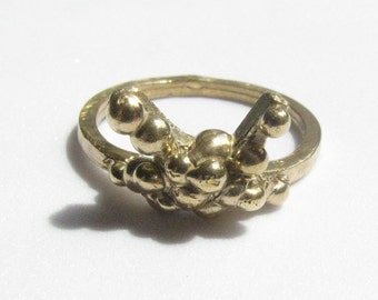 """Red Bronze """"X Dot"""" RIng, Size 8"""